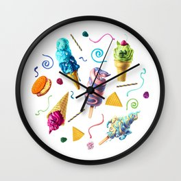 All Mutts Summer Flavours Wall Clock