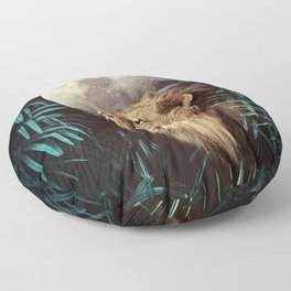Lion in the Jungle Floor Pillow