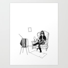 Black metal sewing Art Print