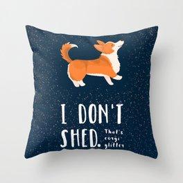 Corgi Glitter - Pembroke Welsh Corgi Throw Pillow