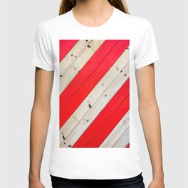 RED - WOOD - STRIPE - PHOTOGRAPHY T-shirt