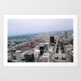 St. Louis from the Arch Art Print