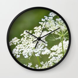 Sweet Queen Anne's Lace Wall Clock