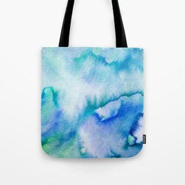 Watercolor texture - blue and turquoise Tote Bag