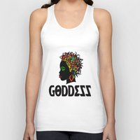 goddess Tank Tops featuring Goddess by RespecttheQueenDecor