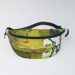 Yellow and Green Watermaster Fire Hydrant East Jordan Iron Works Fireplug Fanny Pack