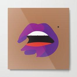 Lips by Cindy Rose Studio Metal Print