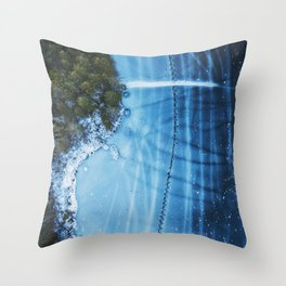 Stitches in Ice Throw Pillow