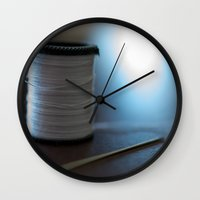 sewing Wall Clocks featuring Sewing by Heartland Photography By SJW