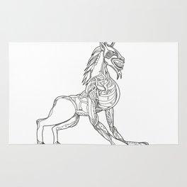 Wendigo Crouching Doodle Art Rug