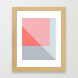 Mélange No. 2 Modern Geometric Framed Art Print
