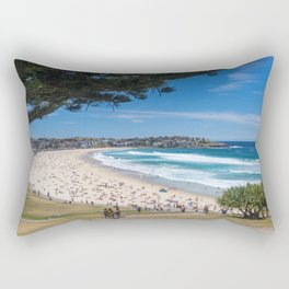 Bondi Beach looking north. Rectangular Pillow