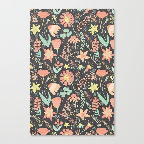 Peachy Keen Wildflowers Canvas Print