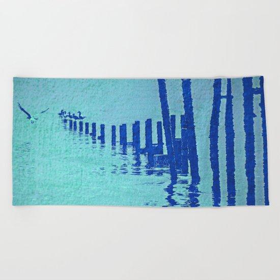 OCEAN BLUE Beach Towel