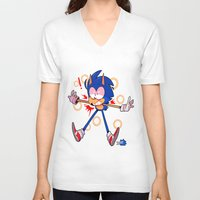 sonic V-neck T-shirts featuring sonic by Kai L.
