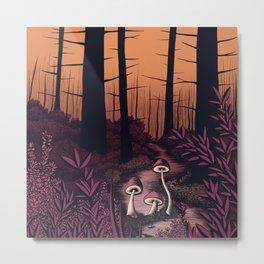 Forest Fungi rusty haze Metal Print