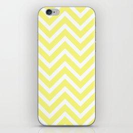 Chevron Stripes : Yellow & White iPhone Skin