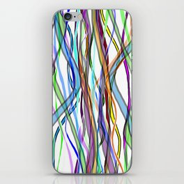 Multiplied Parallel Lines - Colored iPhone Skin