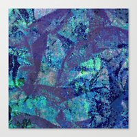 mineral Canvas Prints featuring Mineral  by M. Noelle Studios