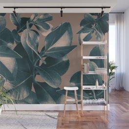 Ficus Leaves Fall Dream #1 #green #decor #art #society6 Wall Mural