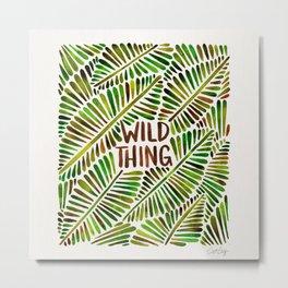 Wild Thing – Green Palette Metal Print