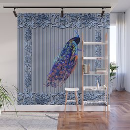 Splendor Peacock Fantasy Victorian Accents Wall Mural