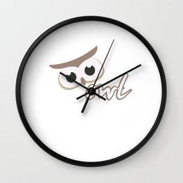 Owl Lovers Owls Nocturnal Birds Night Hunter Animals Wildlife Wilderness Gift Wall Clock
