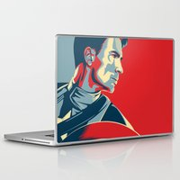 avenger Laptop & iPad Skins featuring The First Avenger by Olivia Desianti