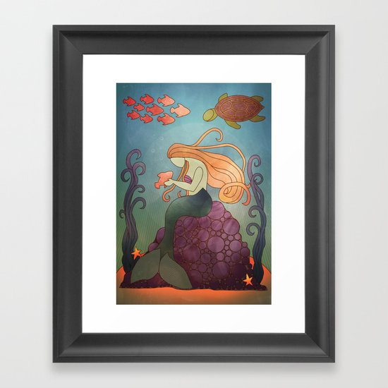 Fishy Business Framed Art Print