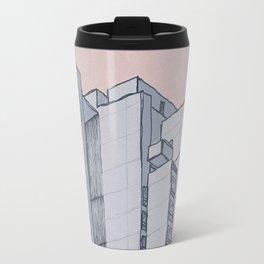 Brutalist Architecture Apartment Block Travel Mug