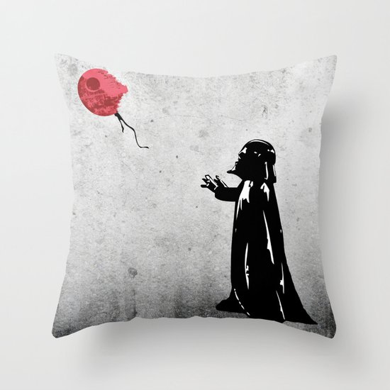 Little Vader - Inspired by Banksy Throw Pillow