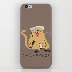 lab-rador iPhone Skin