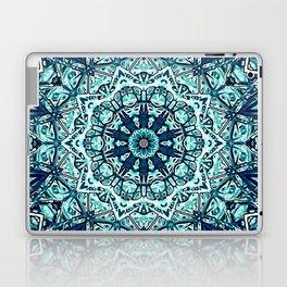Green Blue Black Mandala  Psychedelic Pattern Laptop & iPad Skin