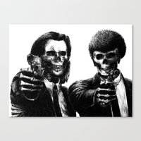 pulp Canvas Prints featuring Pulp Fiction by Motohiro NEZU