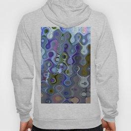 Colour Through Pattern Blue Hoody
