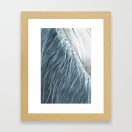 Horse mane photography, fine art print n°1, wild nature, still life, landscape, freedom Framed Art Print
