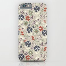 Retro Flora Slim Case iPhone 6s