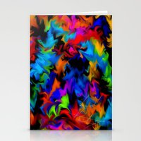 psychedelic art Stationery Cards featuring Psychedelic  by Lord Rukaj