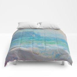 Claude Monet Impressionist Landscape Oil Painting Regnvær, Etretat Comforters