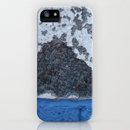 Blue and White Crumbling iPhone Case