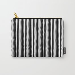 Op-Art Black and White Tribal Stripe Pattern Carry-All Pouch