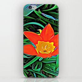 Flower of Enchanted Orange Flow iPhone Skin