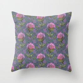 Burdock Flower Pattern Throw Pillow