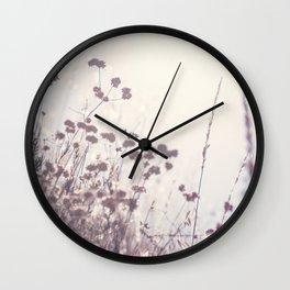 Wintry Hillside Plants Wall Clock