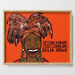 La Reina Celia Cruz Serving Tray