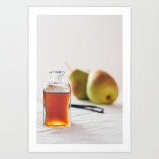 Pear and Vanilla Love Art Print