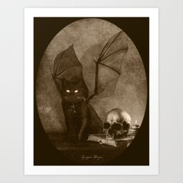 Dark Victorian Portrait: The Familiar Art Print