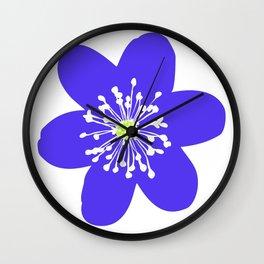 Flower Anemone Hepatica Wall Clock
