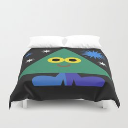 Happy Triangle Duvet Cover