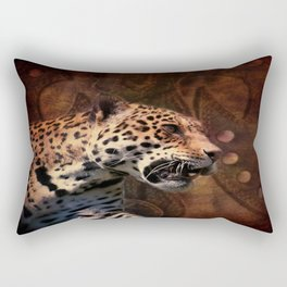 western country rustic wild leopard Rectangular Pillow
